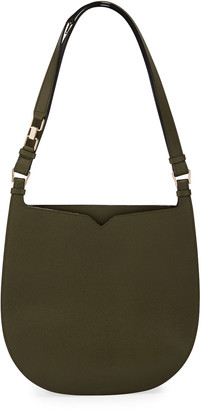Valextra Saffiano Weekend Hobo Bag