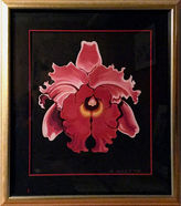 One Kings Lane Vintage Red Orchid by Lowell Blair Nesbitt