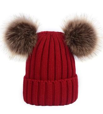 Goodnight Macaroon 'Emery' Ribbed Knit Pom Pom Beanie (5 Colors)
