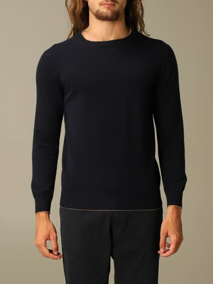 Eleventy Sweater Platinum Pullover With Round Neck In Wool
