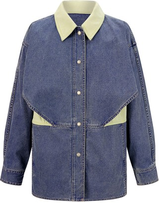 PortsPURE Panelled Oversized Denim Jacket