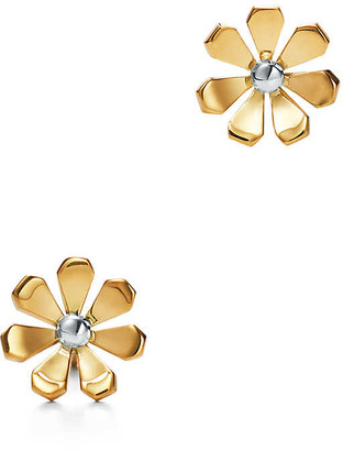Tiffany & Co. Return to TiffanyTM Love Bugs daisy earrings in 18k gold and sterling silver