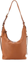 Kooba Joan Leather Crossbody Hobo Bag, Medium Beige