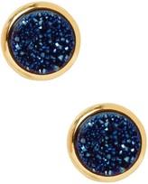 Saachi Tiny Blue Coated Druzy Earrings