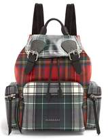 Burberry Medium laminated-tartan backpack