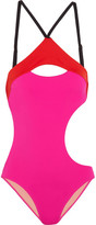 L'Agent by Agent Provocateur Alenya Cutout Color-block Swimsuit - x large