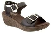 Munro American Women's Marci Leather Wedge Sandal.