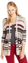 Billabong Junior's Outside Lines Stripe Lightweight Oversized Cardigan Sweater