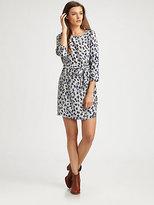 Gryphon Gryph Leopard-Print Silk Dress