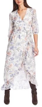 1 STATE Floral-Print Wrap Dress