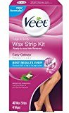 Veet Wax Strip Kit, 40 Count for Legs & Body (Pack of 8)