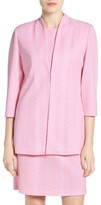Ming Wang Women's Texture Knit Mandarin Collar Jacket
