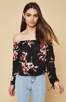 KENDALL + KYLIE Kendall & Kylie Off-The-Shoulder Button Front Top