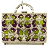 Judith Leiber Embellished Purse Pill Box