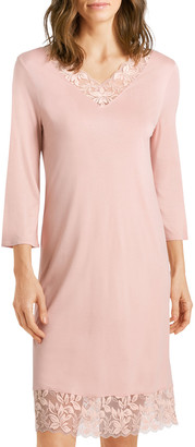 Hanro Lille 3/4-Sleeve Nightgown