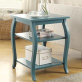 Andover Mills Tenley End Table with Storage Color: Teal