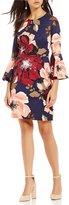 Trina Turk Splendid Bell Sleeve Sheath Dress