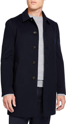 Loro Piana Men's Sidney Solid Cashmere Coat