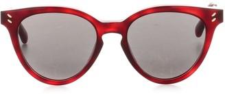 Stella McCartney Eyewear Cat Eye Round Frame Sunglasses
