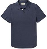 Oliver Spencer Hawthorn Slim-Fit Mélange Cotton-Jersey Polo Shirt