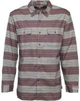 Converse Mens Miner Striped Utility Long Sleeve Shirt Vintage Grey Heather
