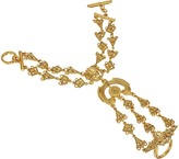 Oscar de la Renta Ornate Charm Bracelet Ring