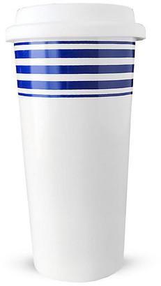Caskata Beach Towel Striped Travel Mug - Blue