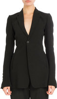 Rick Owens Tailored Bell-Sleeve Blazer, Black