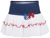 Pate De Sable Lolita Navy Frill Heart Skirt