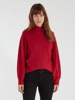Equipment Veleraine Mock Neck Contrast Sweater