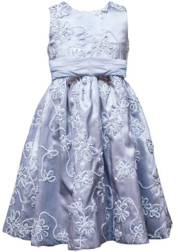 Rare Editions Girls 7-16 Sequins Floral Soutache Dress