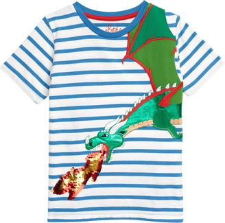 Boden Color Change Sequin Dragon T-Shirt