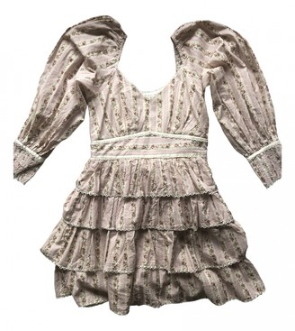 LoveShackFancy Pink Cotton Dresses