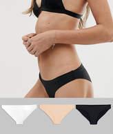 Asos 3 Pack Basic Seam Free Brazilian Pants