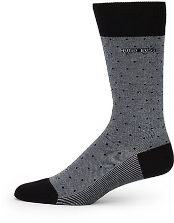 HUGO BOSS Pin Dot Crew Socks