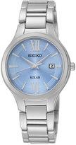 Seiko Women's Solar Stainless Steel Bracelet Watch 29mm SUT209