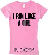 Micro Me Raspberry 'Run Like a Girl' Tee - Toddler & Girls