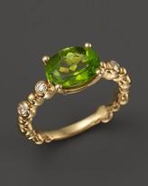 Michael Aram 18K Yellow Gold Single Row Molten Ring with Peridot & Diamond Accents