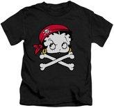 Betty Boop Cartoon Pirate Little Boys T-Shirt Tee