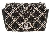 Chanel Patent Tweed Mini Classic Flap Bag