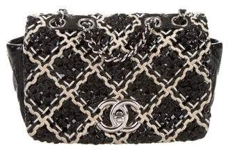 Chanel Patent Tweed Mini Classic Flap Bag