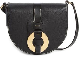 Chloé Darryl Leather Crossbody Saddle Bag