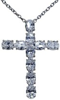 Cartier Platinum 10.00ct Diamond Cross Pendant Chain Necklace