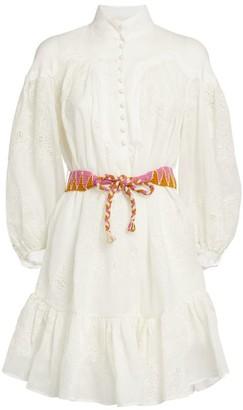 Zimmermann Riders Belted Mini Dress