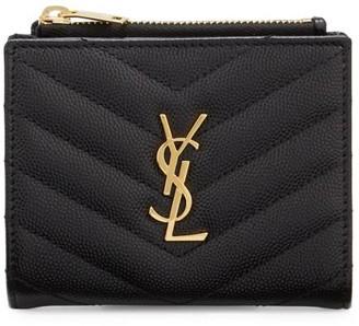 Saint Laurent Monogram Matelasse Leather Bifold Wallet