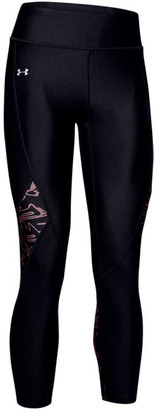 Under Armour Womens HeatGear Printed Panel Cropped Tights