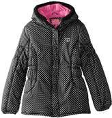Pink Platinum Big Girls' Puffer Coat In Foil Dot