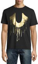 True Religion Metallic Drippy Horseshoe T-Shirt, Black