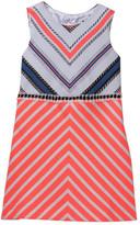 Milly Minis Stripe Mitered Dress (Toddler & Little Girls)