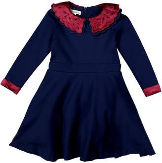 Teela Nyc Kate Eyelet Circle Ponte Dress